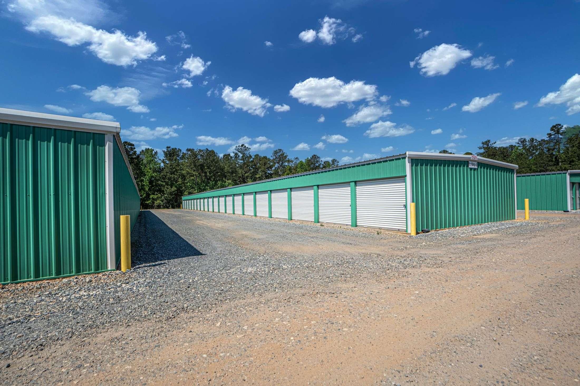 Green Drive Up Storage Units