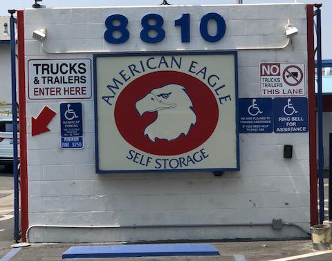 American Eagle Self Storage Signage