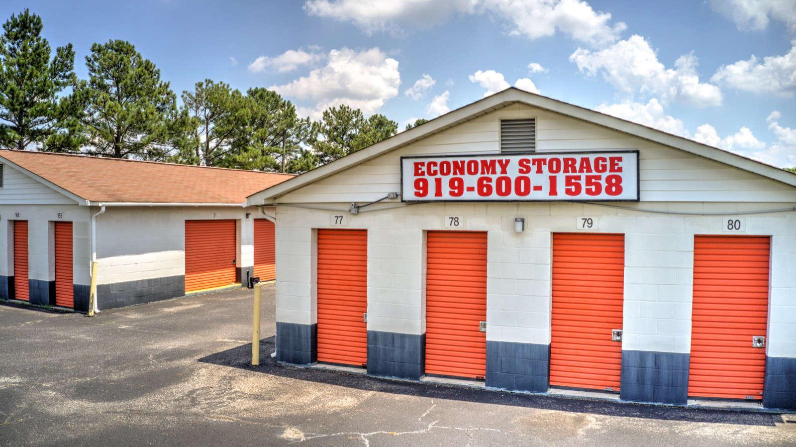 Front of Rows of Storage Units at Economy Storage - Clayton