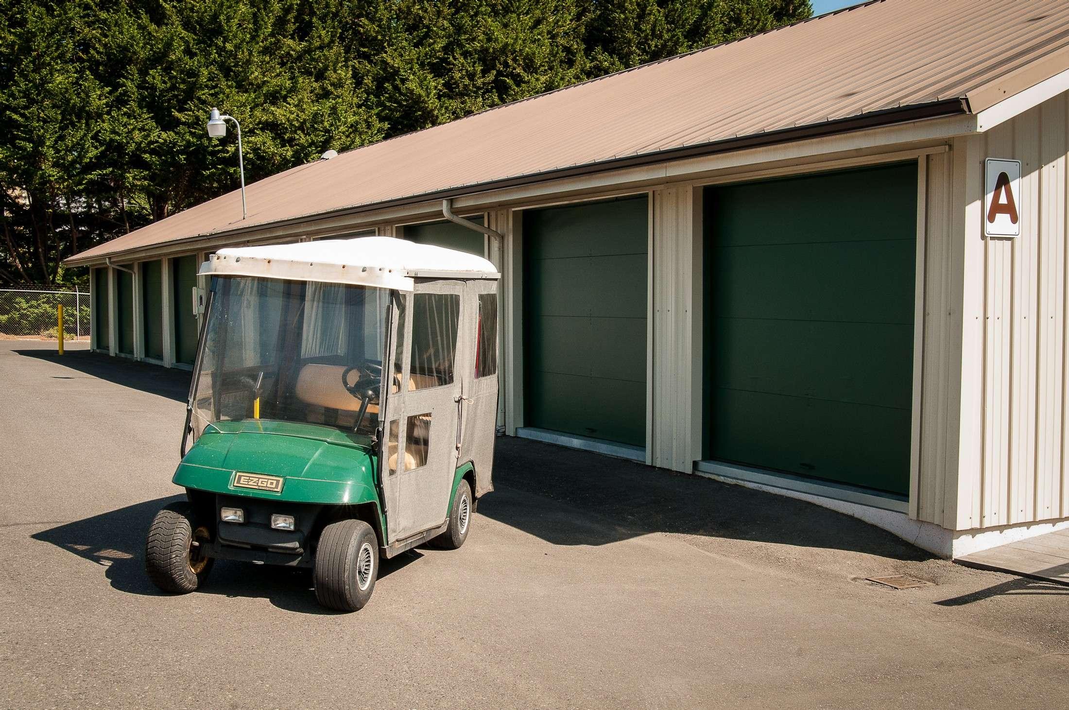 Reliable Storage Bainbridge golf cart on aisle